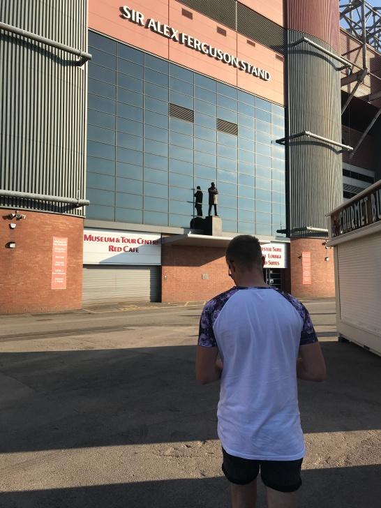 Ieuan at Old Trafford